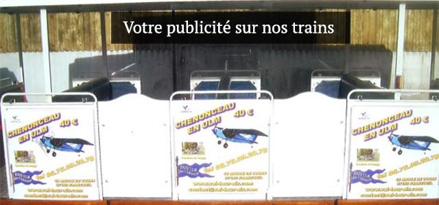 Votre publicité sur nos trains